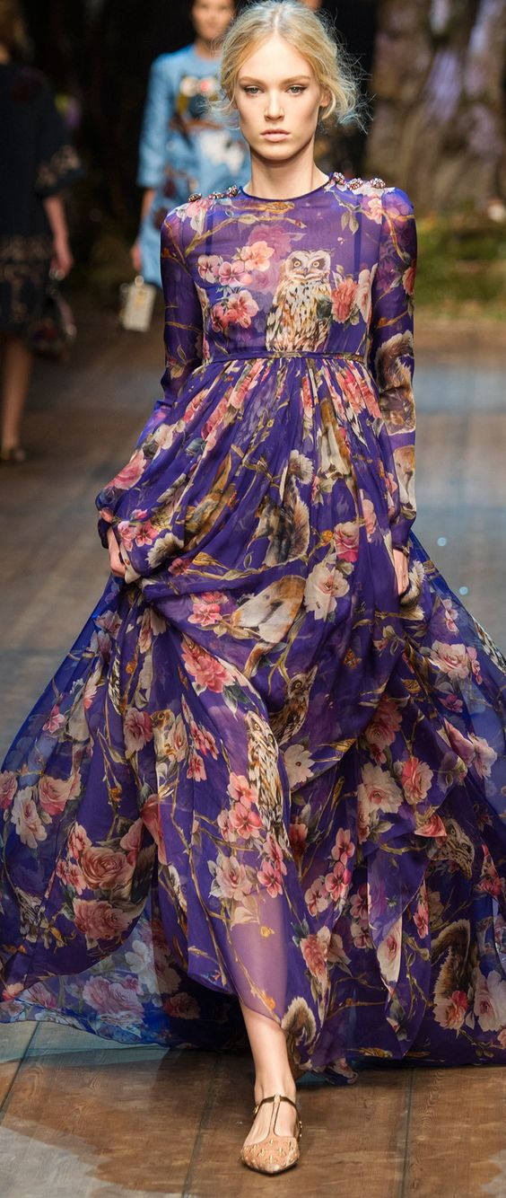 dolce y gabanna vestido larga