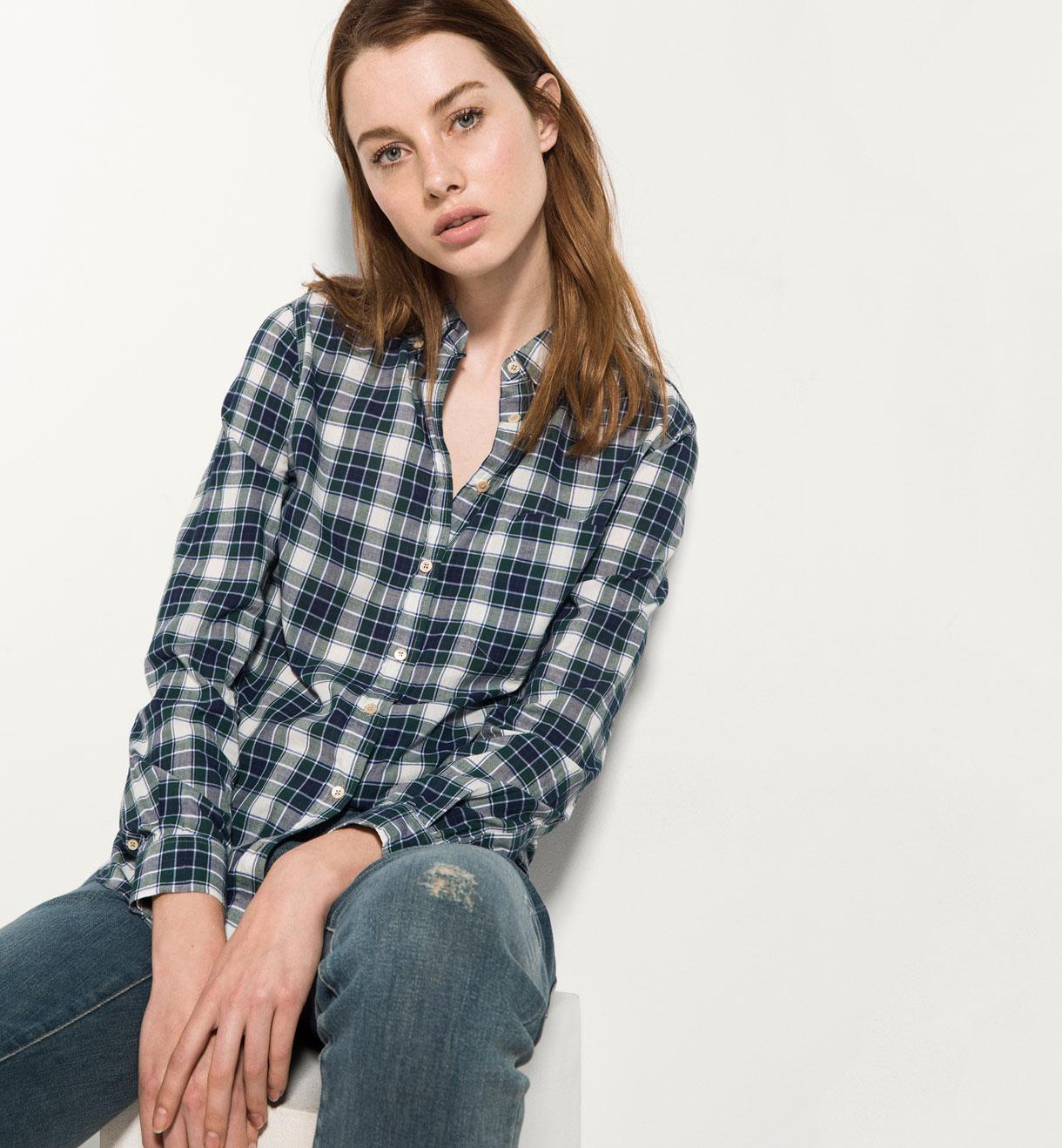 camisa tipo leñador