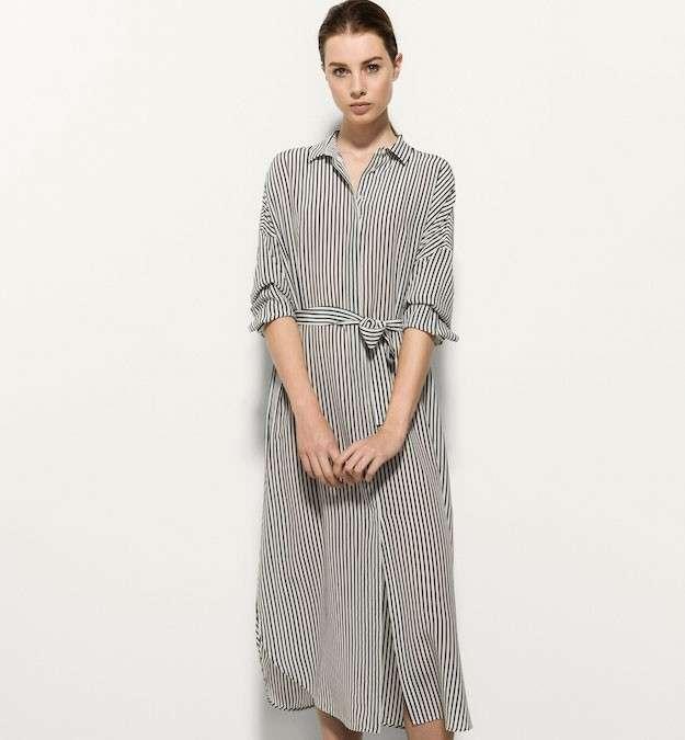 vestido rayas massimo dutti