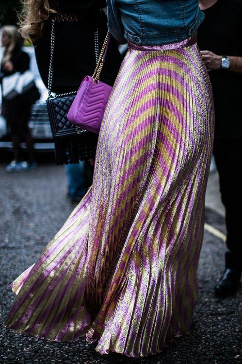 falda-plisada-metalizada
