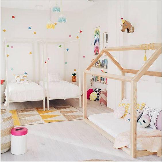 tipos de camas para niños. Combinar varios tipos de camas