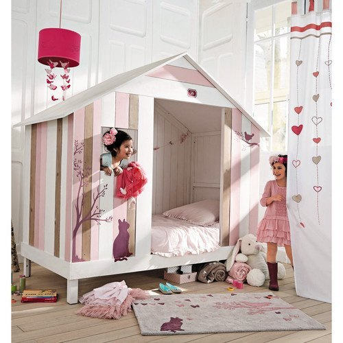 tipos de camas para niños. Cama de casita Maisons du monde