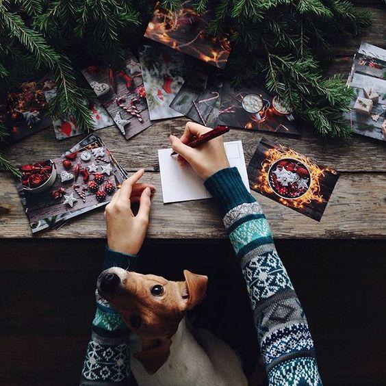 Escribir christmas. Espíritu navideño