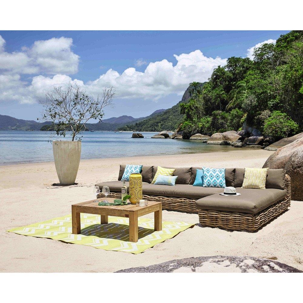 decoración para terrazas de verano con muebles fijos