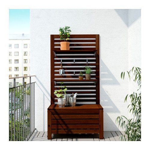 decoración para balcones pequeños con muebles multifuncionales