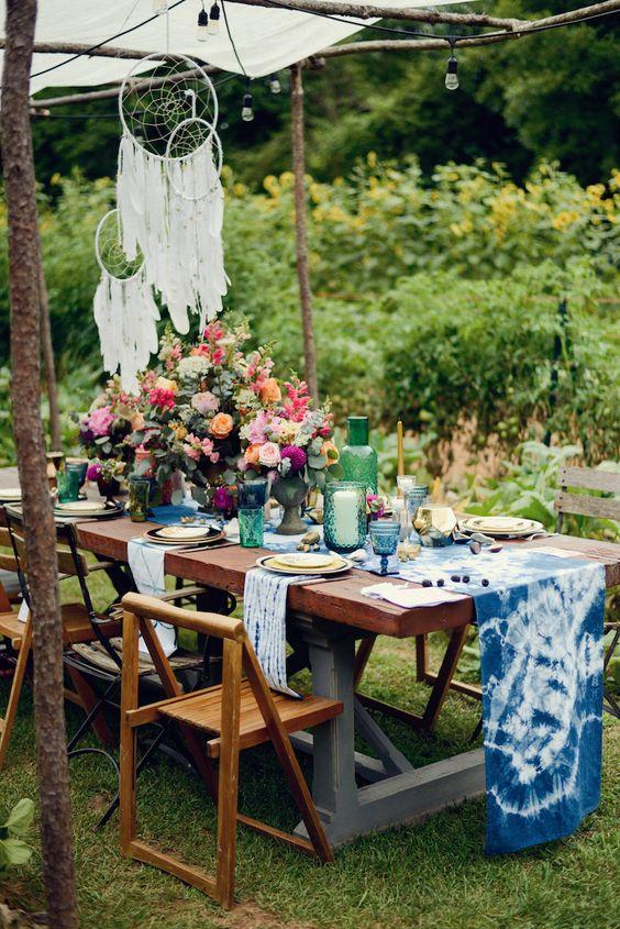 decoración de mesas de verano con textiles