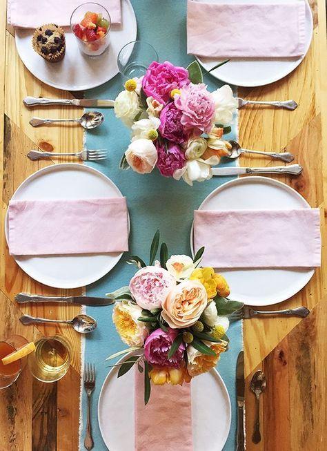 decoración de mesas de verano