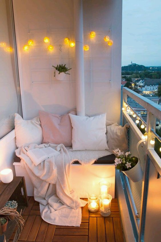 ideas para decorar balcones pequeños chill out