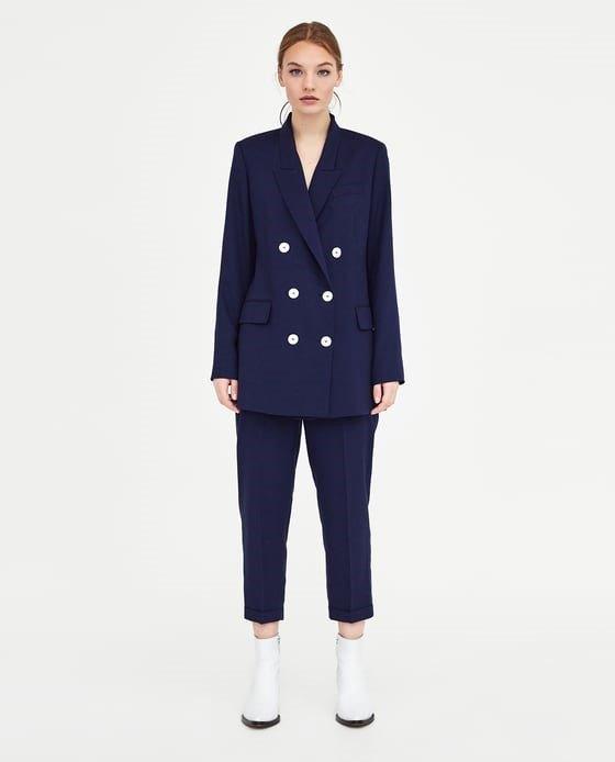 blazer navy de Zara