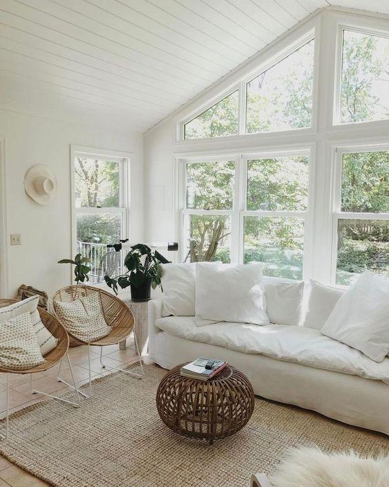 blancos como base para la decoración de verano