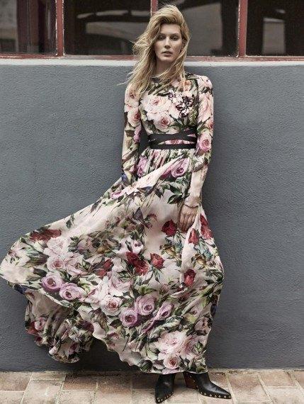 vestido gasa estampada dolce y gabanna