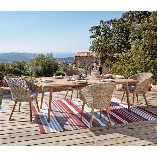 decoración para terrazas de verano con sillas bonitas y cómodas