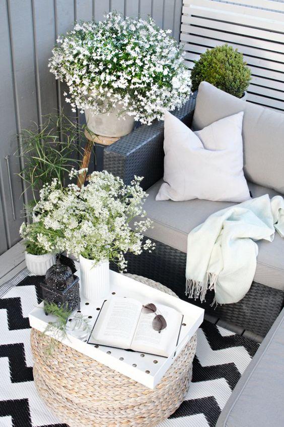 ideas para decorar balcones pequeños con flores