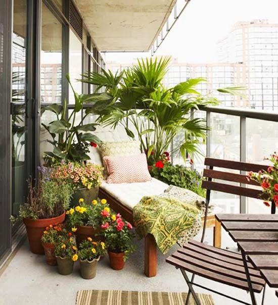 ideas para decorar balcones pequeños con plantas