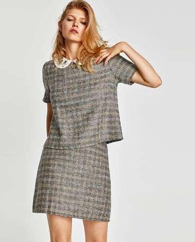 vestir como una it girl con falda tweed