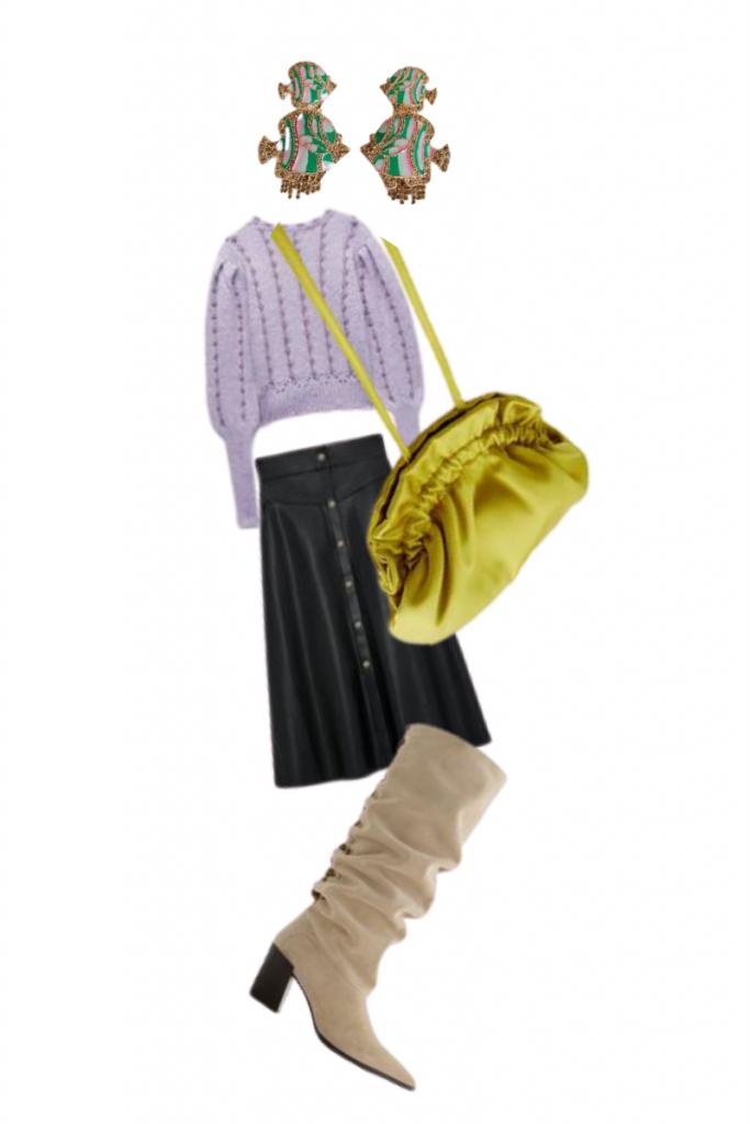 Mi propuesta para combinar un jersey lila